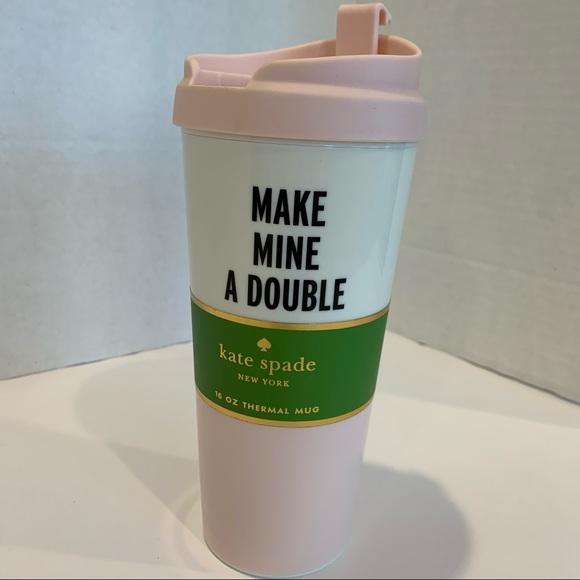 KATE SPADE NWT travel coffee thermal mug 16 oz